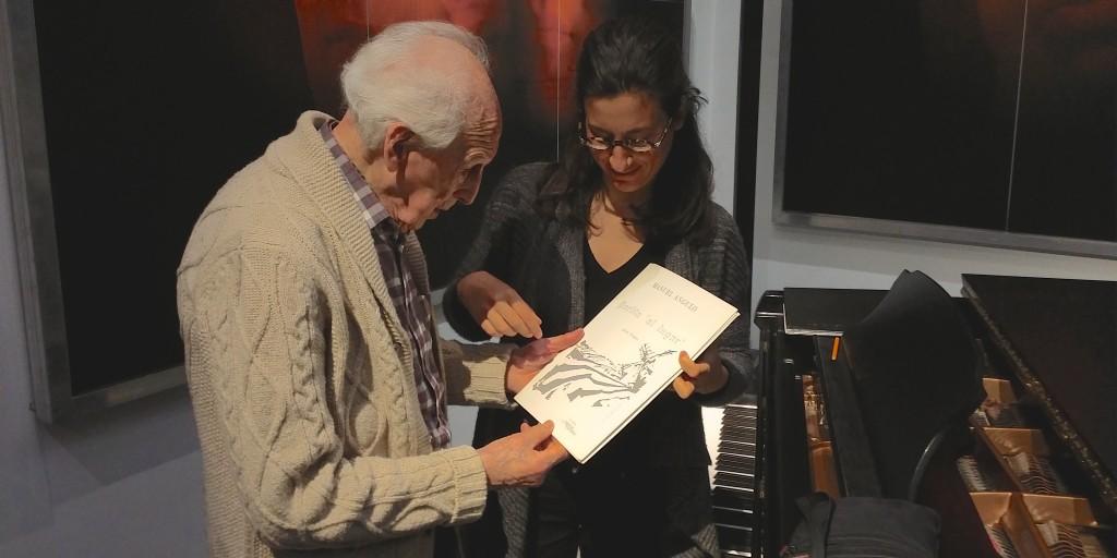Unos días antes tuvo lugar una entrañable sesión de trabajo con el compositor Manuel Angulo, sobre su Partita 'Al lugar'