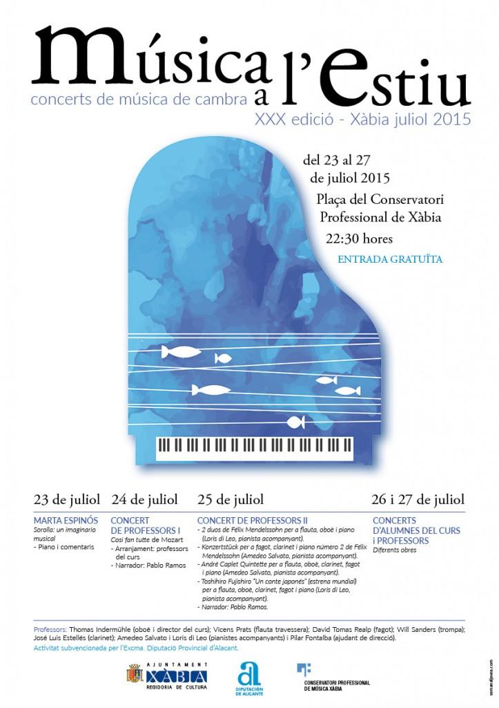 Cartell música a l'estiu definitiu