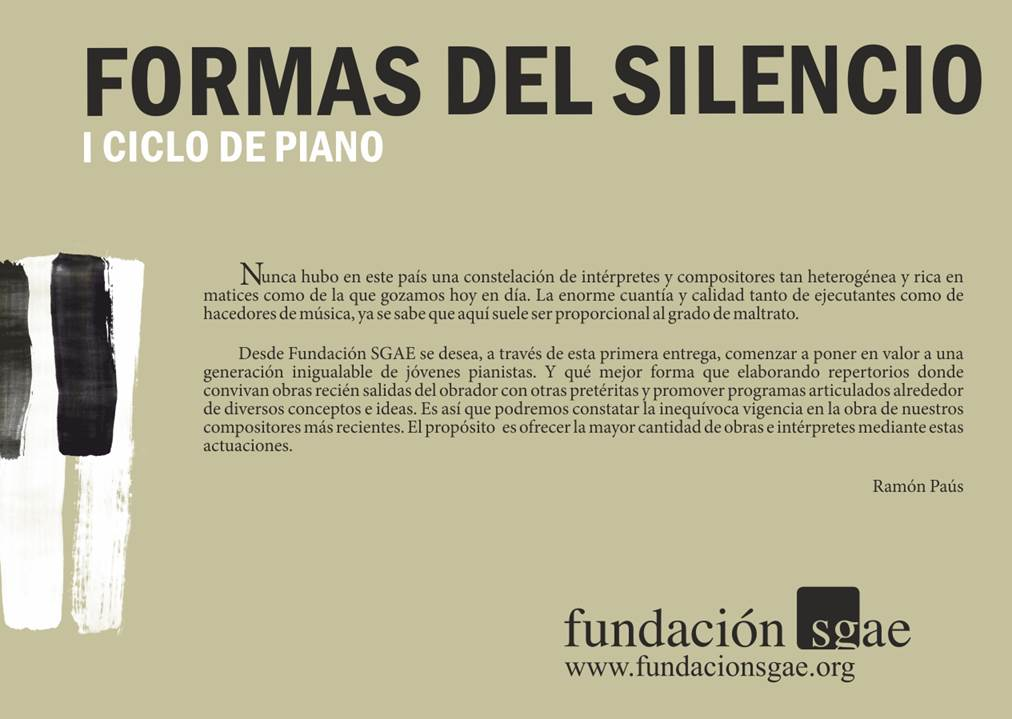 Ciclo SGAE_Formas del silencio_1