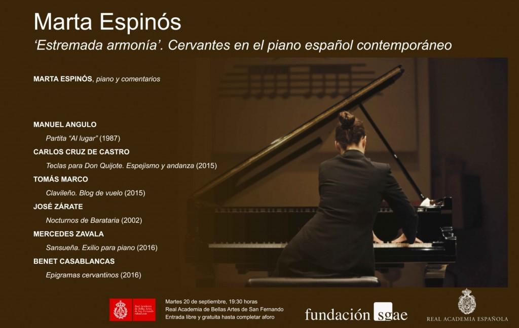 Cartel concierto Marta Espinós. Cervantes 1