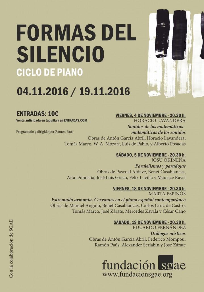 cartel-formas-del-silencio-teatro-campos-2016
