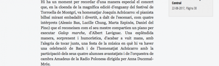 """""""UNA FESTA A TORROELLA"""": CRÒNICA A 'PUNT AVUI'"""
