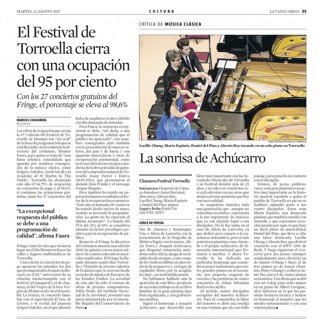 La Vanguardia - 22 ago. 2017 - Page #47