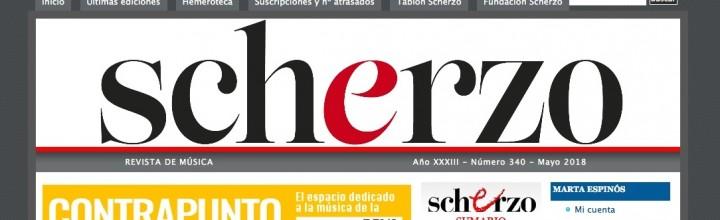 RESEÑA DE 'ESTREMADA ARMONÍA' EN LA REVISTA SCHERZO