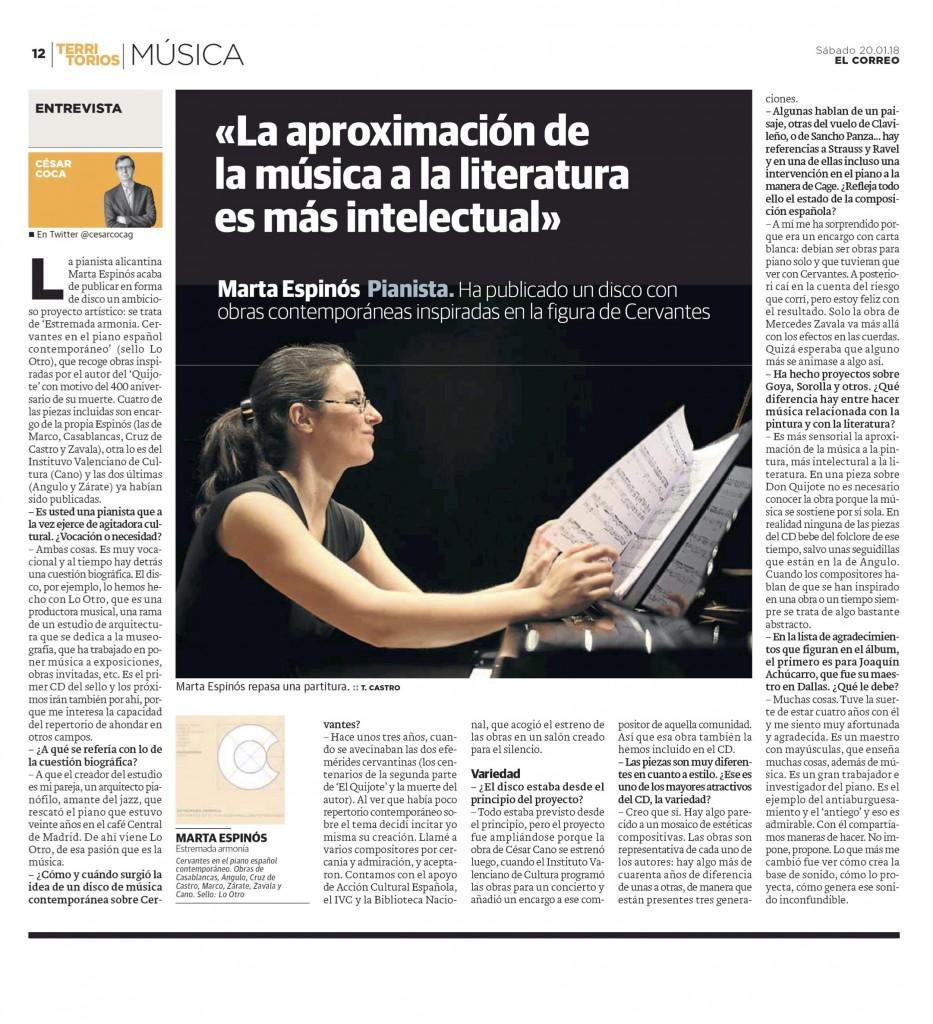 Entrevista El Correo 20-1-18
