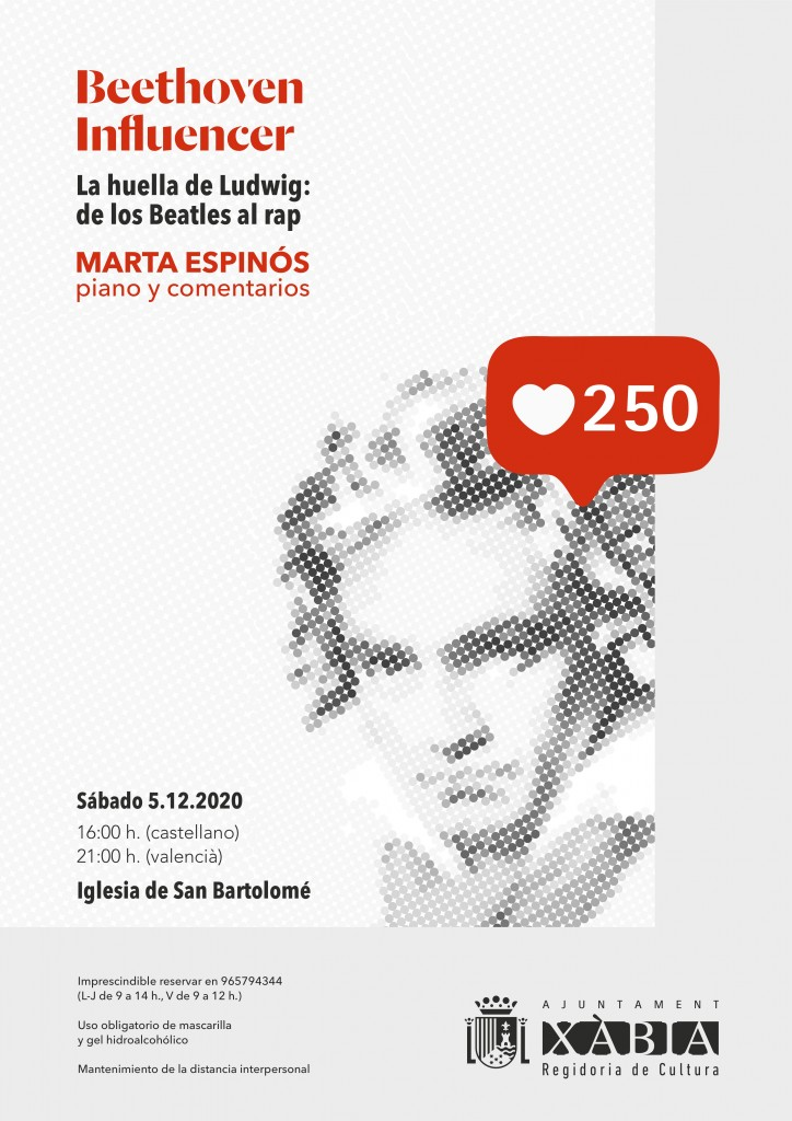 CARTELL XABIA_ BEETHOVEN INFLUENCER_MARTA ESPINÓS